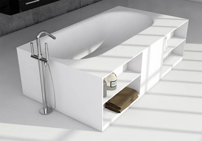 Прямоугольная ванна из искусственного камня Riho Burgos 180х102 белая BS4200500000000