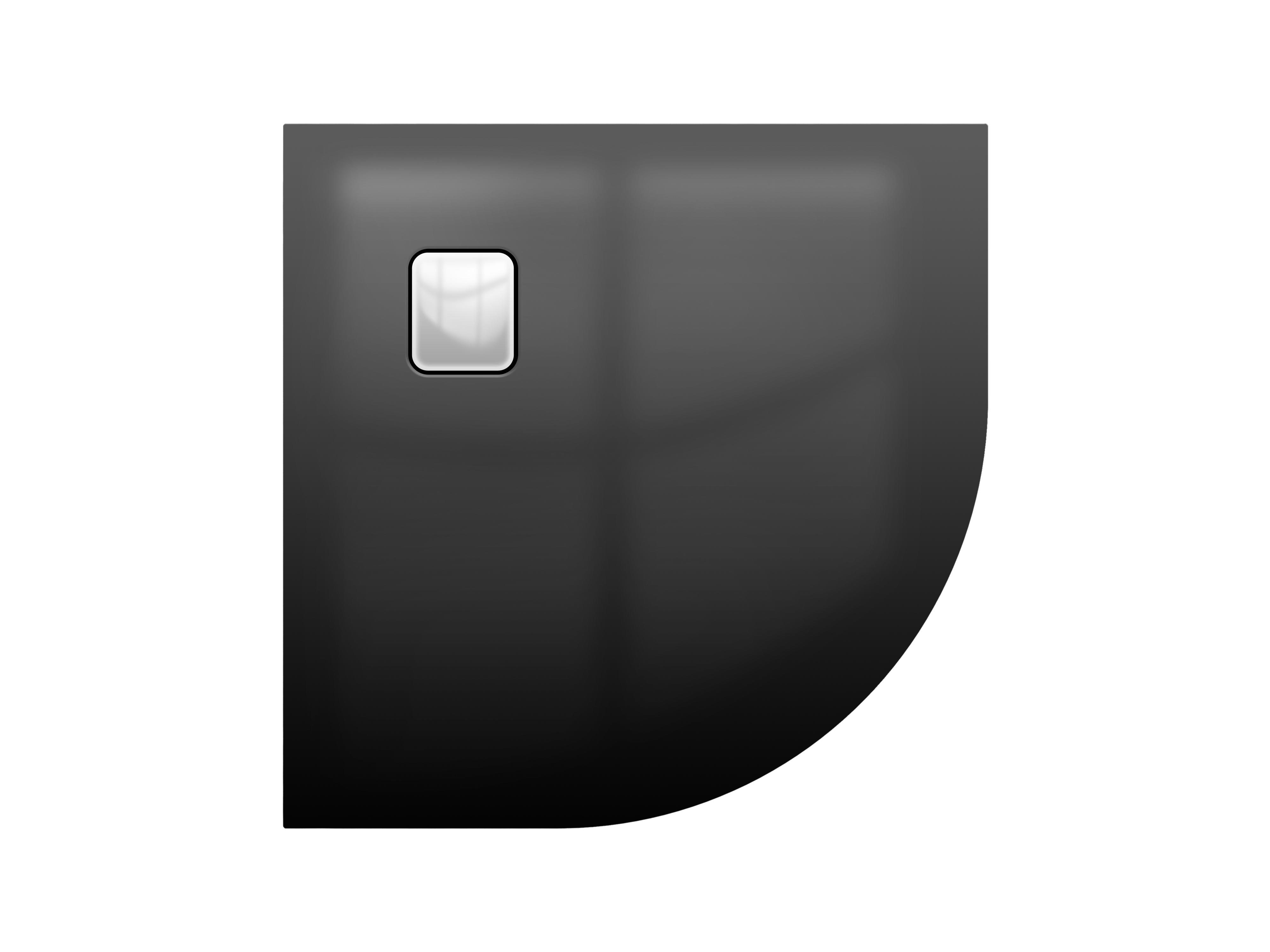 Акриловый душевой поддон Riho Basel 451 90x90 черный глянец, накладка хром DC981600000000S