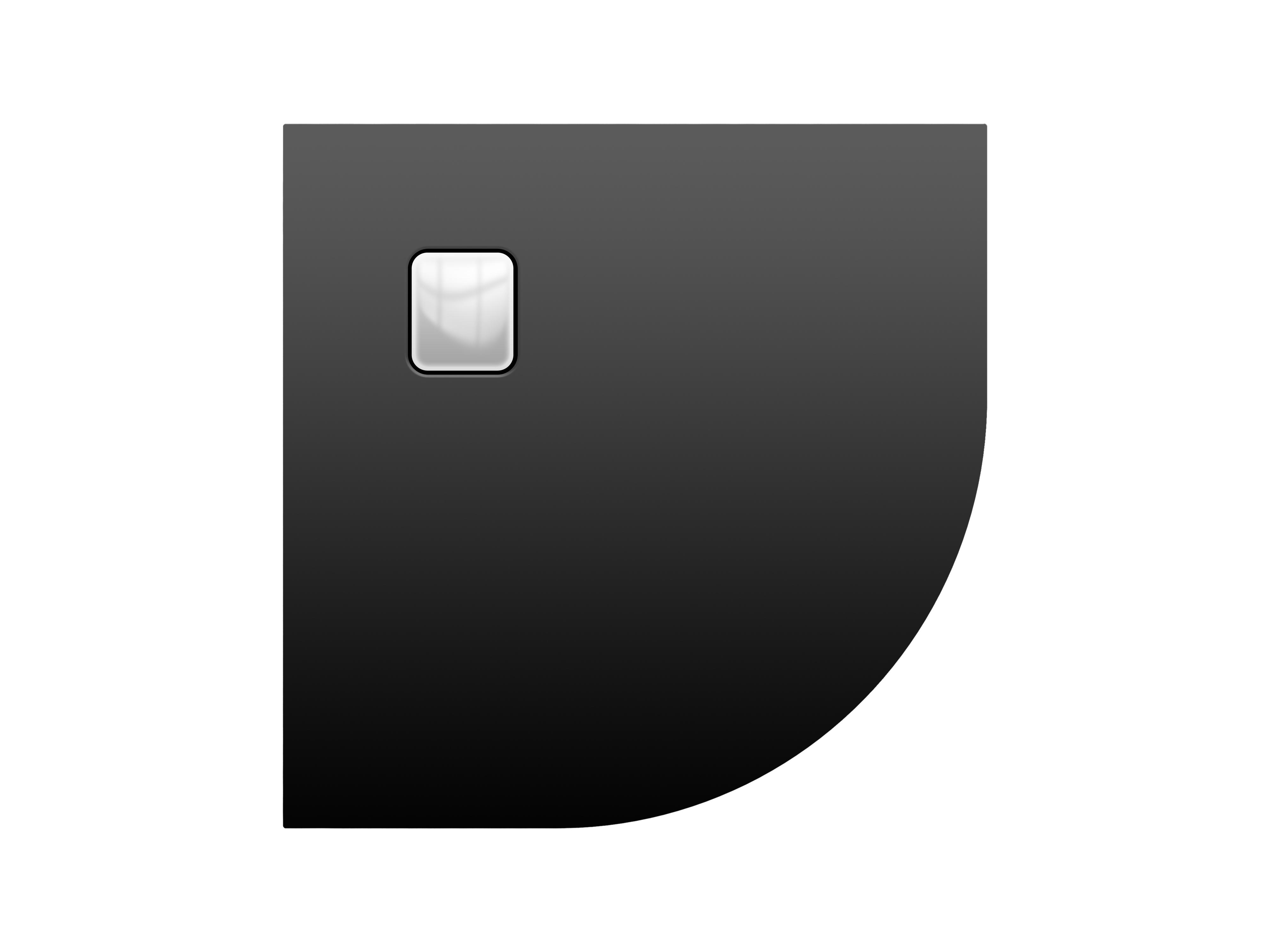 Акриловый душевой поддон Riho Basel 451 90x90 черный матовый, накладка хром DC981700000000S