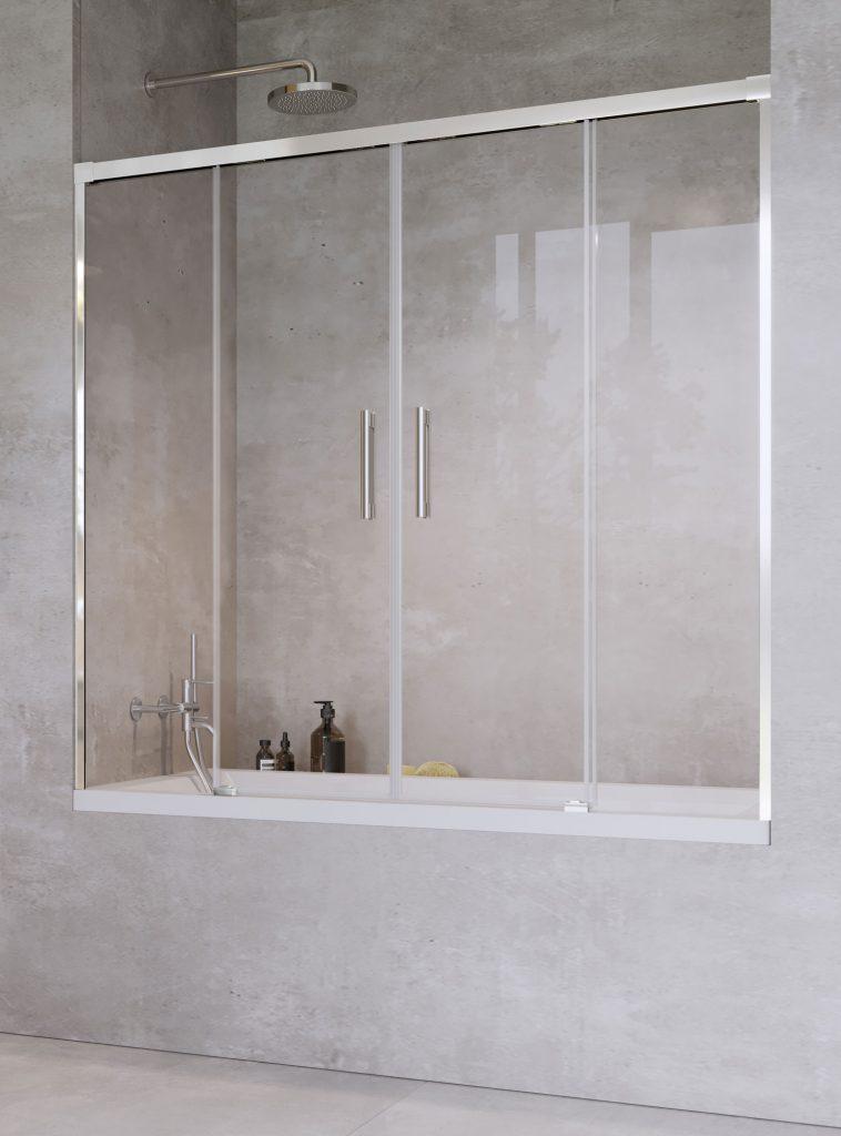 Шторка на ванну Radaway Idea PN DWD 140 , профиль хром, стекло прозрачное
