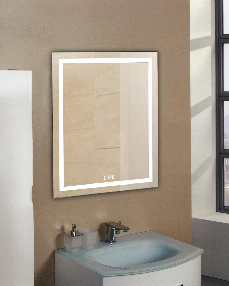"""Зеркало """"Verte LED"""" 500х700 с часами"""