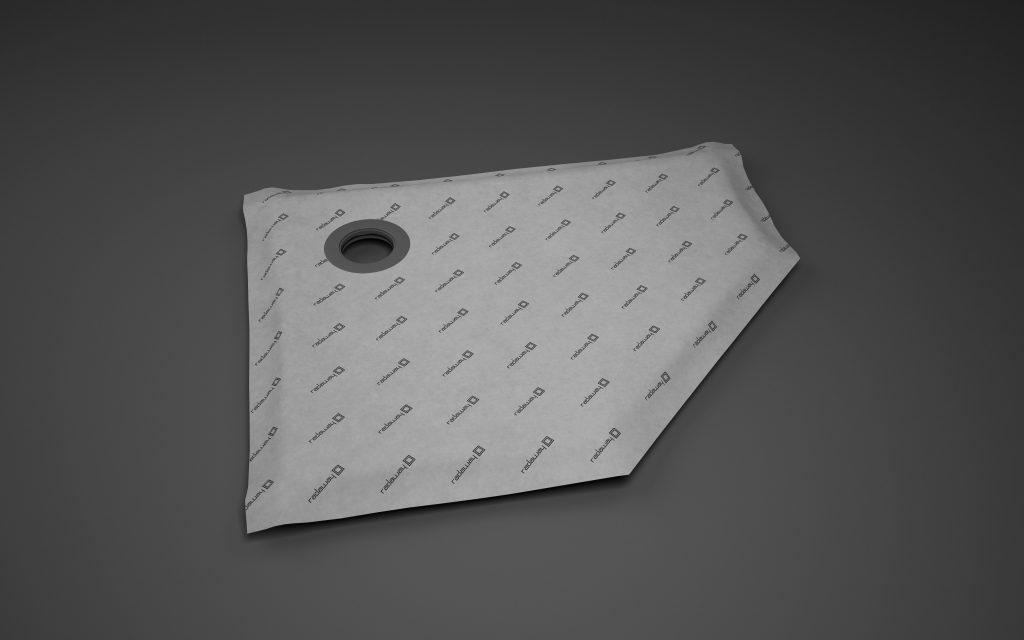 5-угольная асимметричная душевая плита