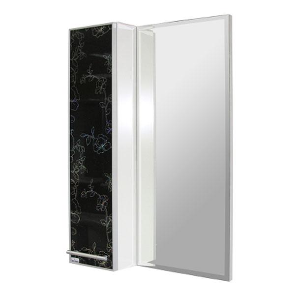 Зеркало-шкаф навесной ТАНГО-55 стекло левый ПВХ