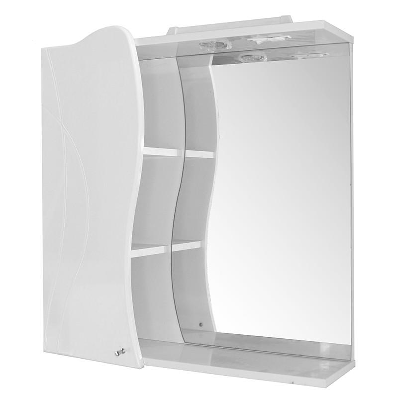 Зеркало-шкаф навесной ВИВЬЕН-75 левый ПВХ