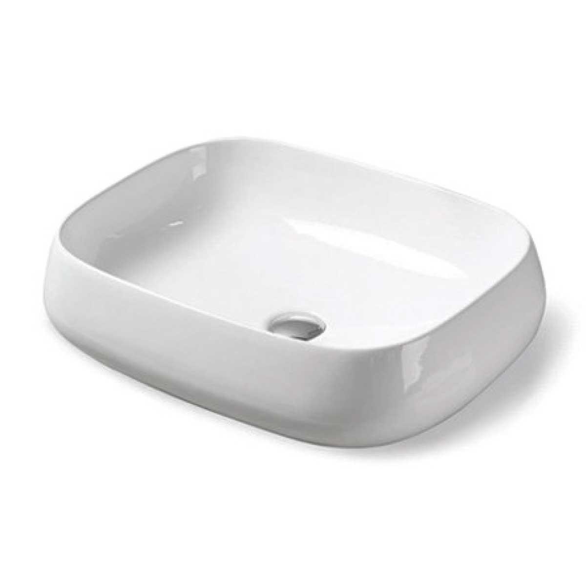 Раковина керамическая Vincea VBS-107, 560*420*145, накладная, цвет белый