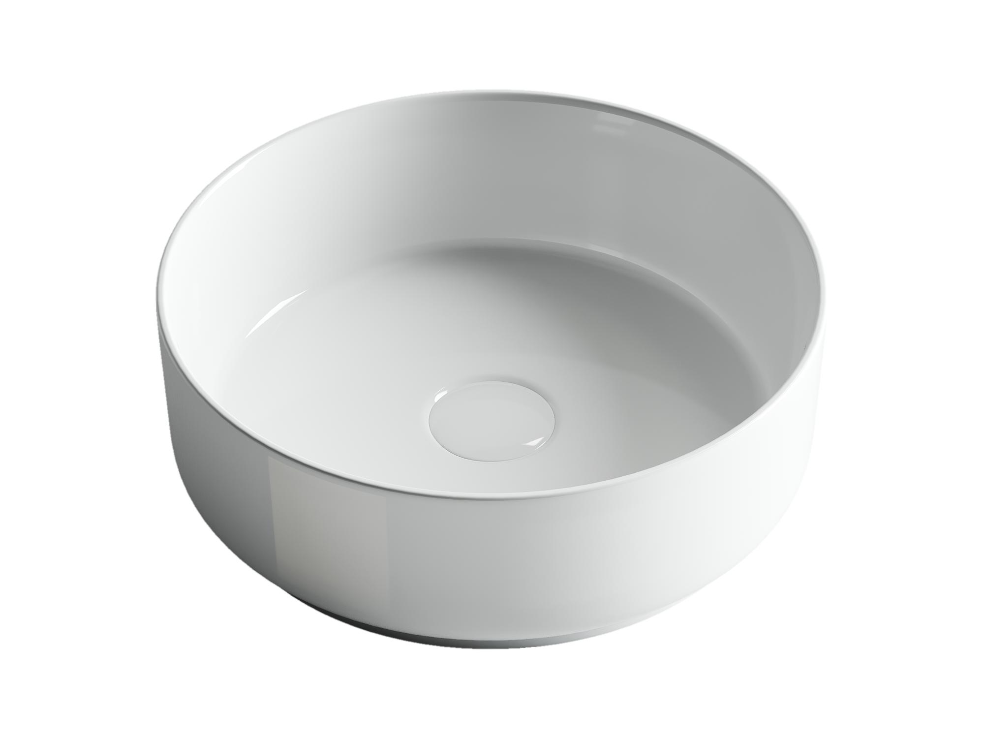 Раковина чаша накладная круглая Ceramica Nova Element CN5001 Белая 360x360x120мм