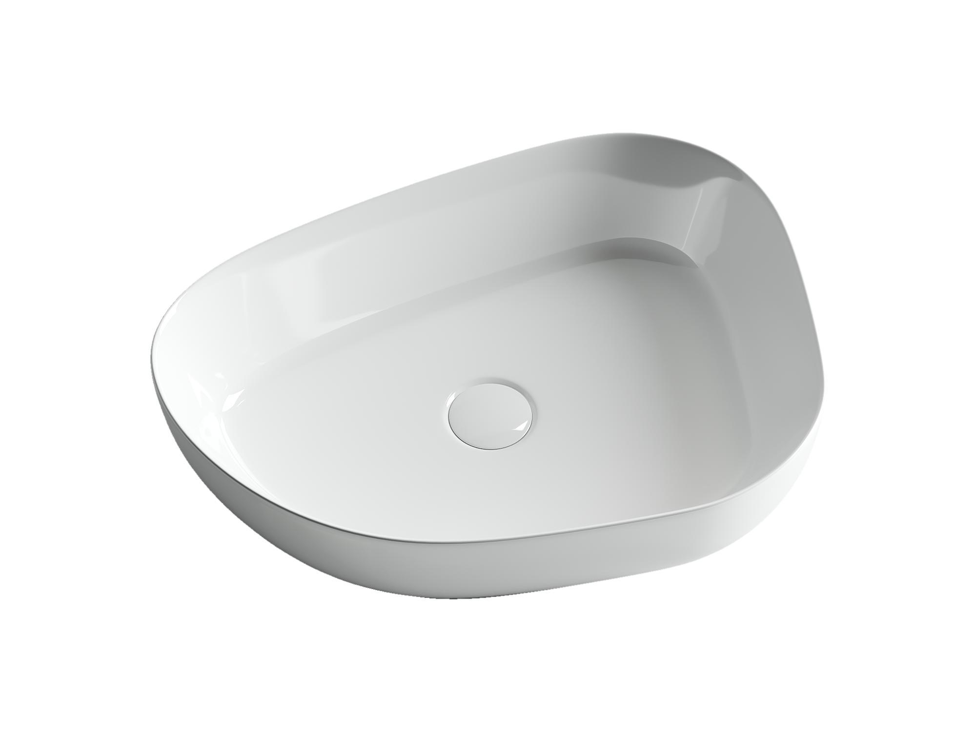 Умывальник чаша накладная ассиметричной формы Element 550*400*140мм