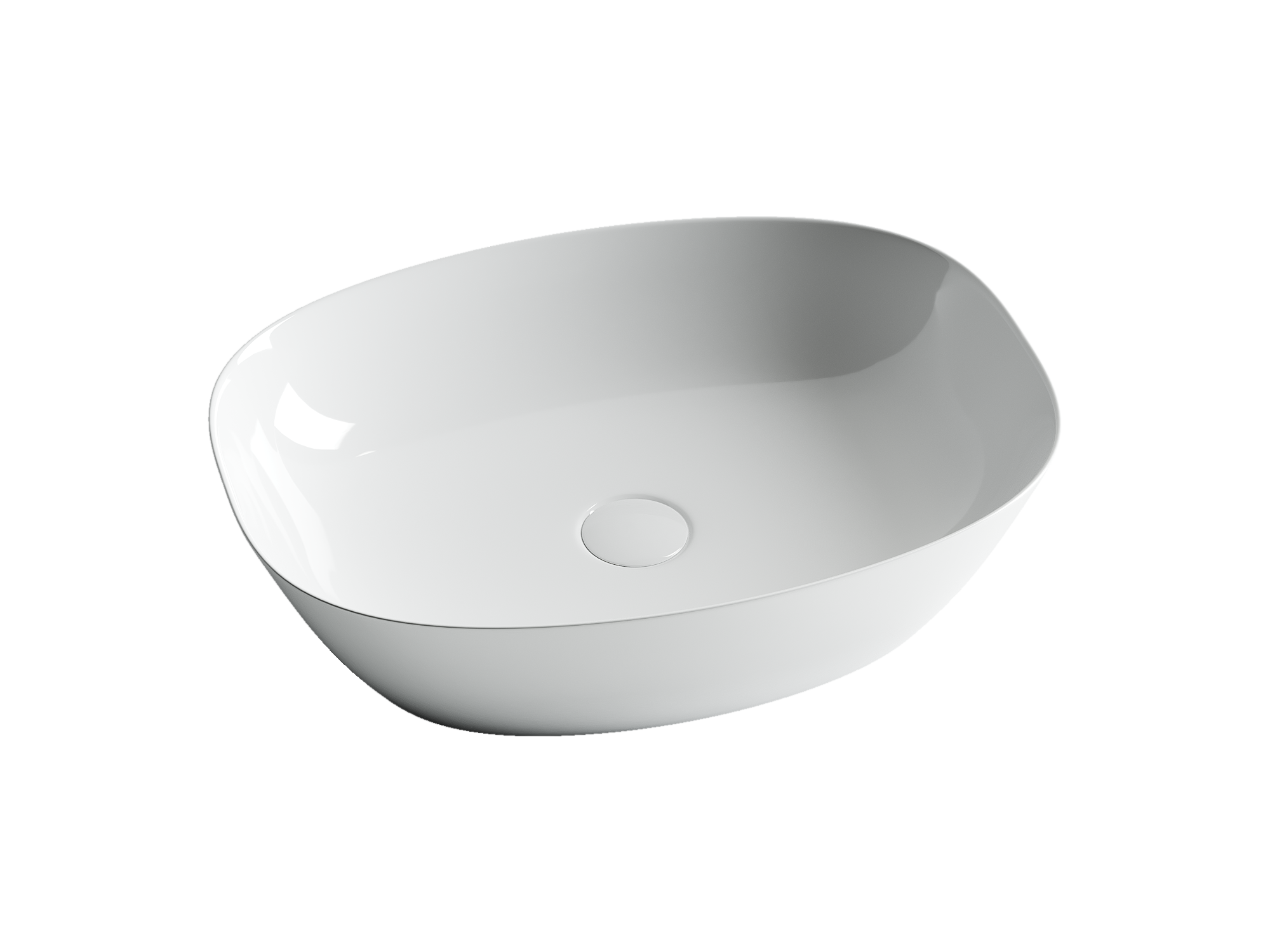 Раковина чаша накладная Ceramica Nova Element CN5005 овальная 500x380x140мм