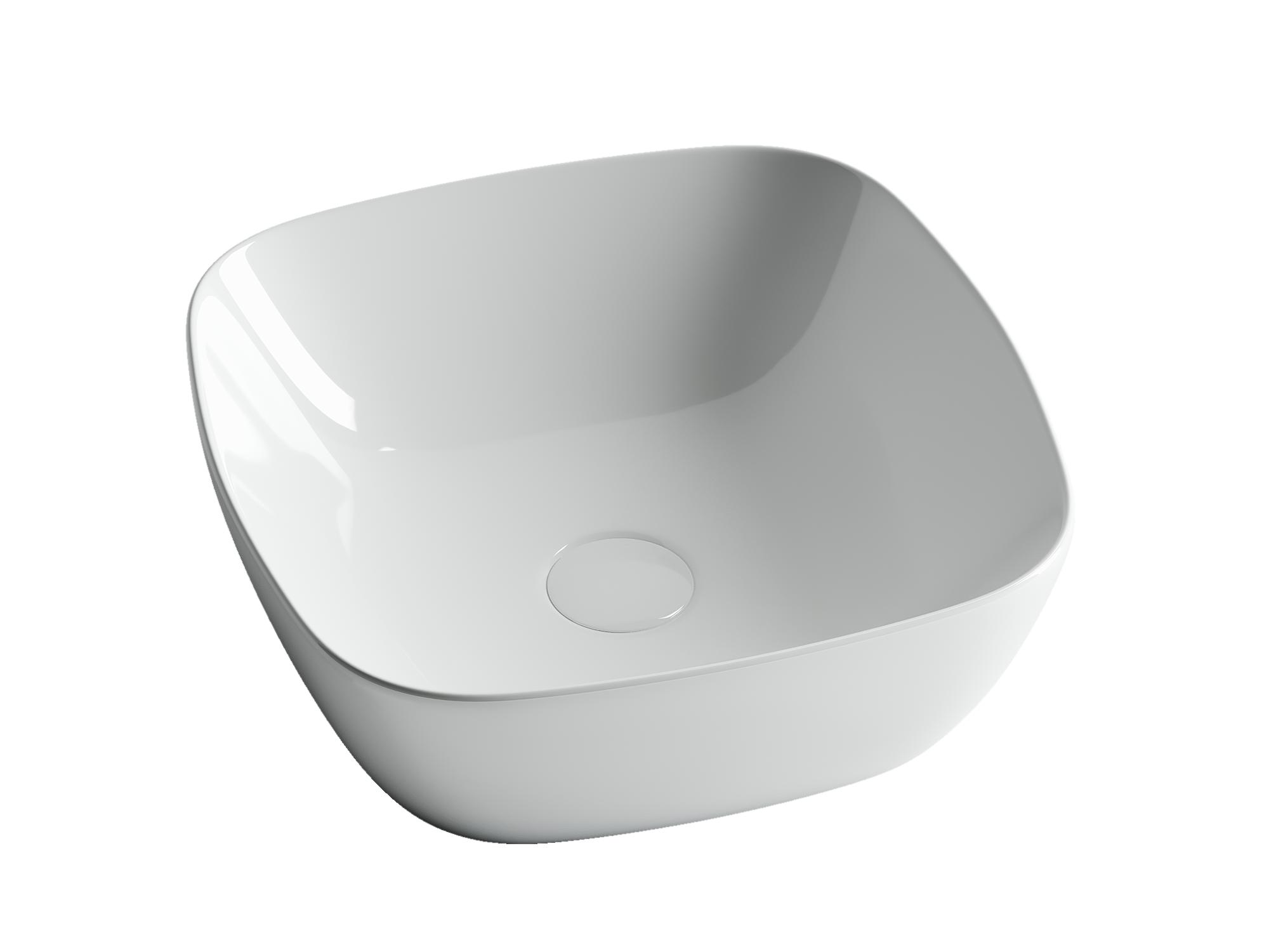 Раковина чаша накладная квадратная Ceramica Nova Element CN5006 400x400x140мм