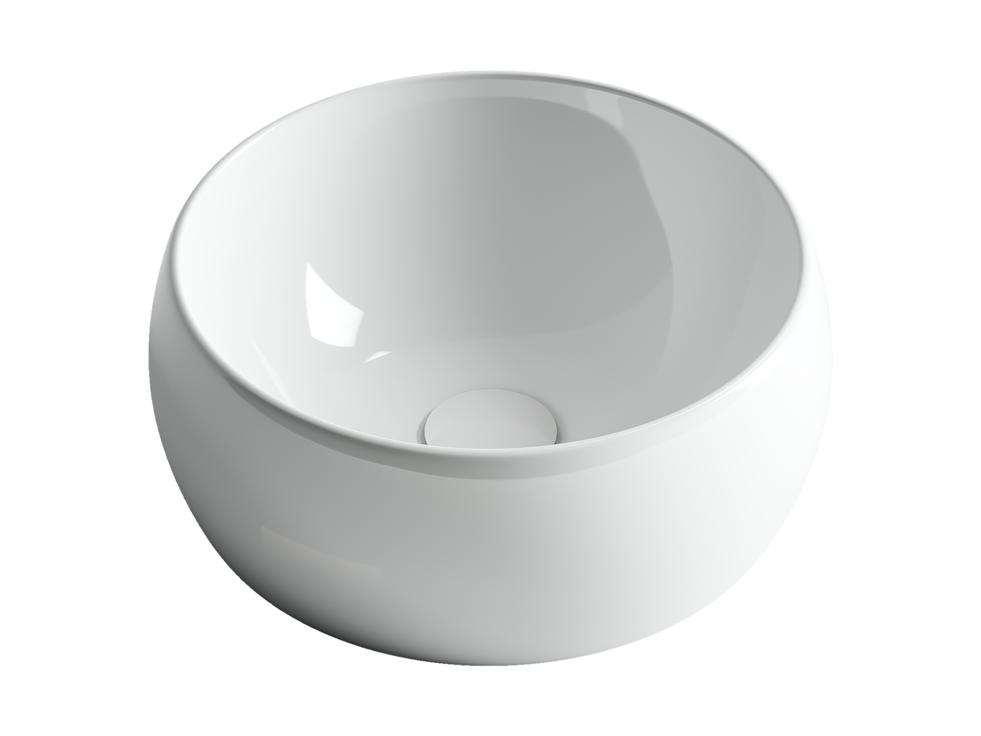 Раковина чаша накладная Ceramica Nova  Element CN6001 395x395x155мм