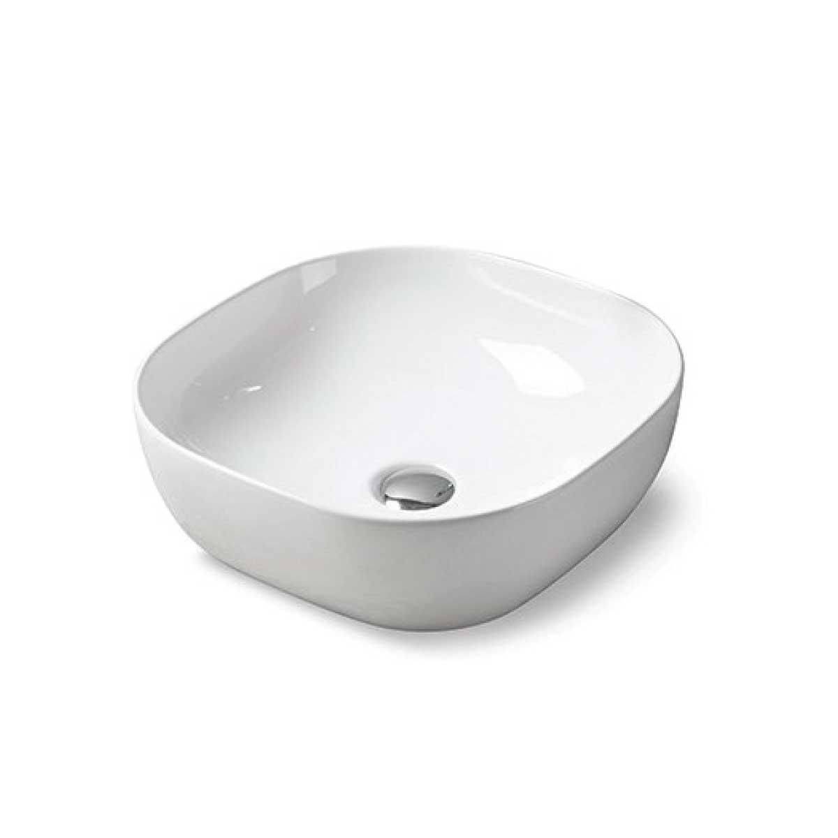 Раковина керамическая Vincea VBS-103, 420*420*140, накладная, цвет белый