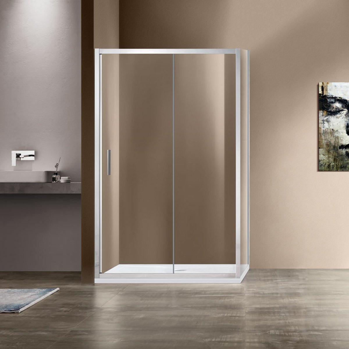 Душевой уголок Garda VSR-1G8013CL, 1300*800, хром, стекло прозрачное