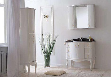 Комплект мебели в ванную комнату Аллигатор мебель Royal 100G , зеркало с двумя шкафчиками
