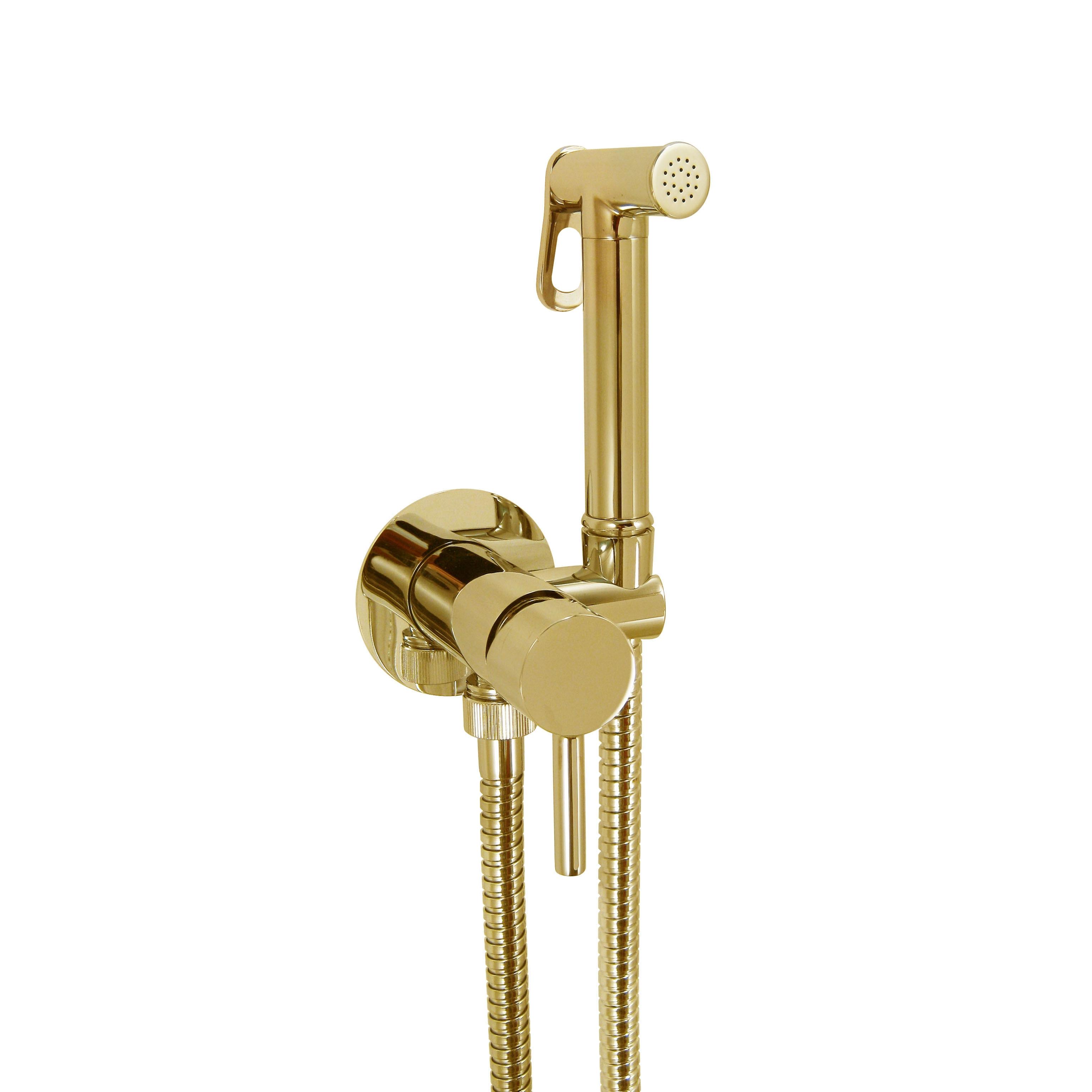 Гигиенический душ со смесителем Giulini Futuro золото 24 карата FSH25DOR