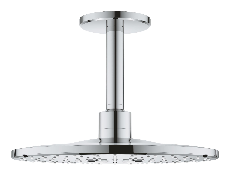 Верхний душ GROHE Rainshower 310 SmartActive с потолочным душевым кронштейном 142 мм, 2 режима струи, хром (26477000)