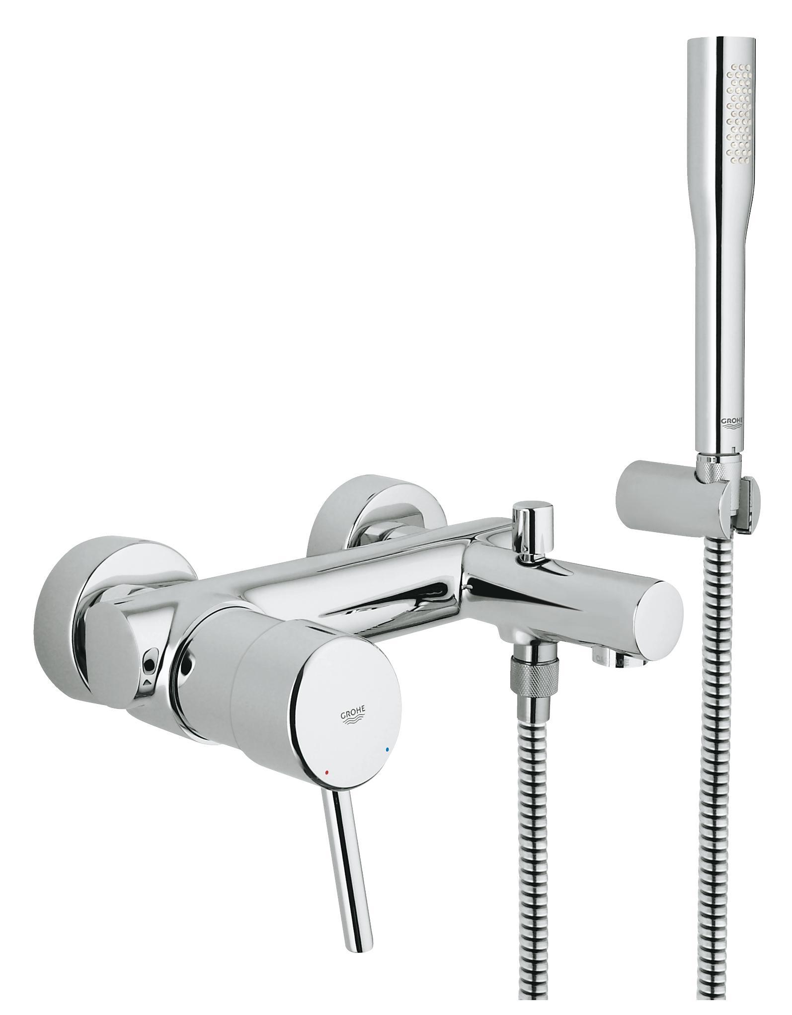 Смеситель для ванны GROHE Concetto с душевым гарнитуром, хром (32212001)