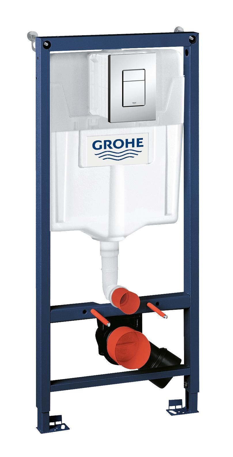 Система инсталляции для унитаза GROHE Rapid SL с панелью смыва Skate Cosmopolitan (3 режима) (1,13 м) (38772001)