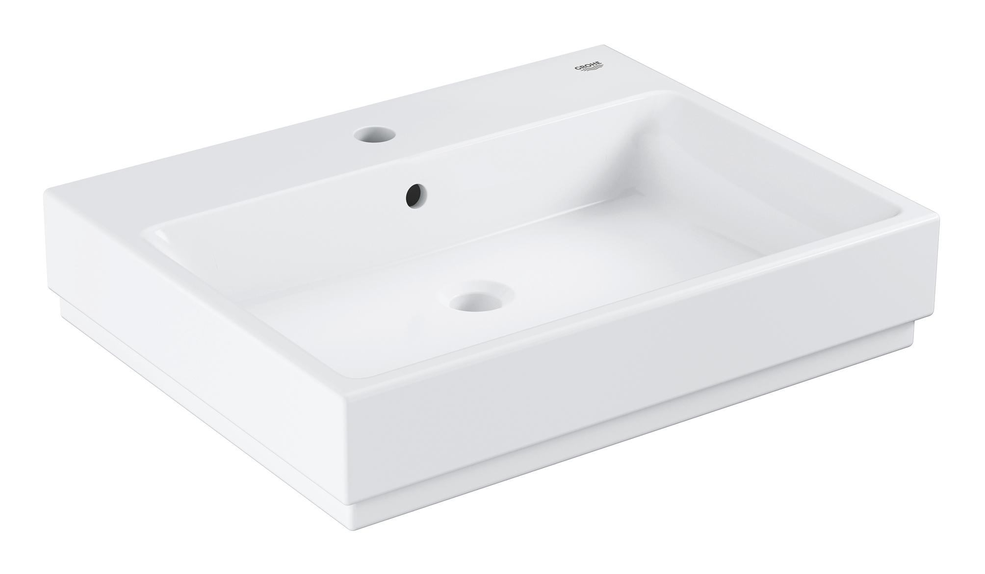 Раковина GROHE Cube Ceramic, подвесная 60 см, альпин-белый (3947300H)