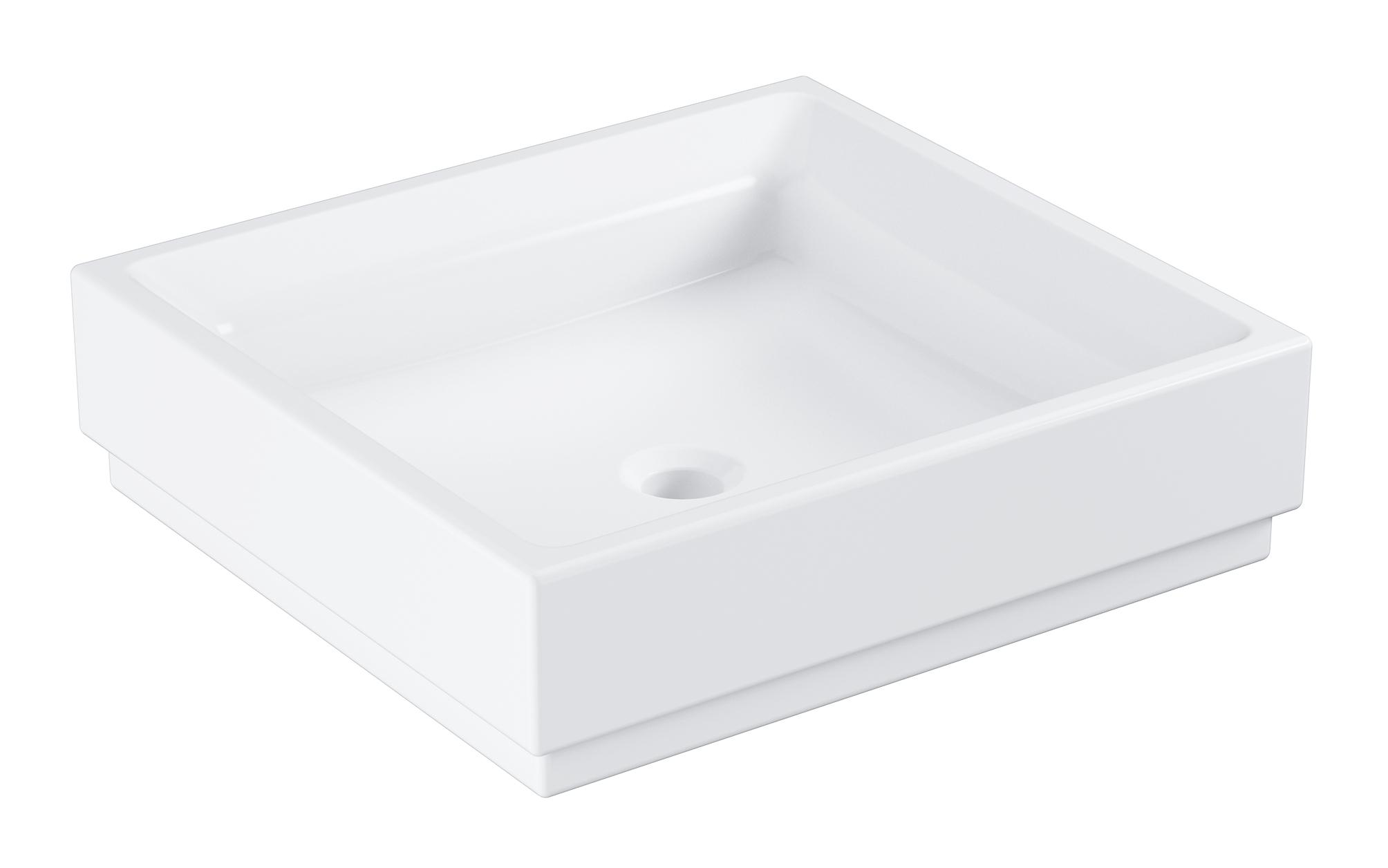 Раковина GROHE Cube Ceramic, свободностоящая, без перелива 50 см, альпин-белый (3948100H)