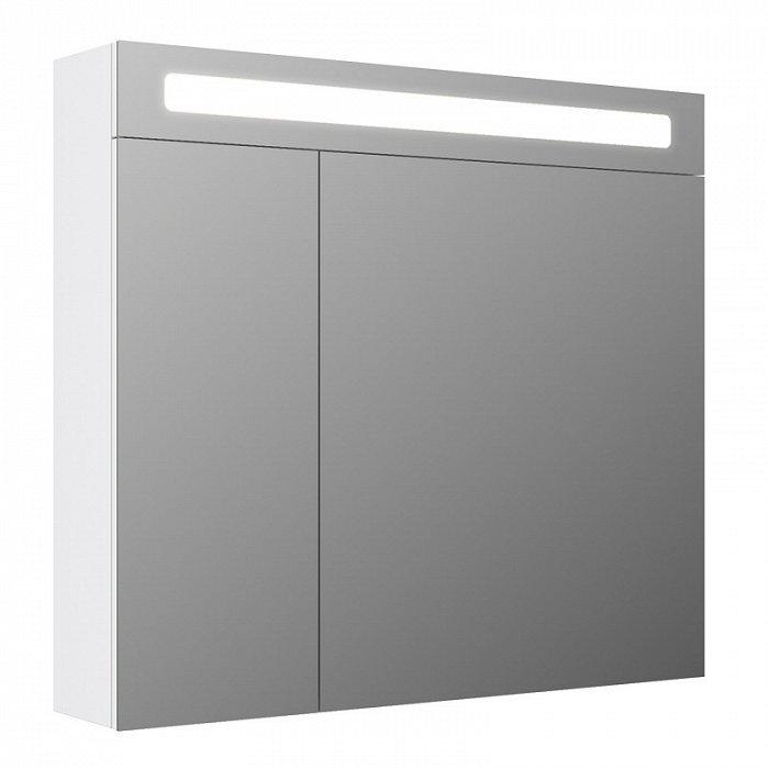 Зеркало-шкаф IDDIS New Mirro 80 двухдверный белый