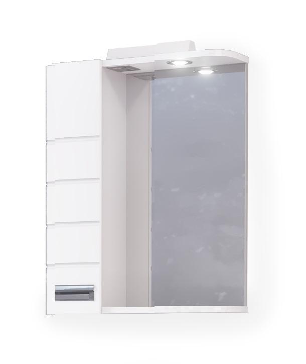 Зеркало-шкаф RAVAL Kub 50 белый с подсветкой