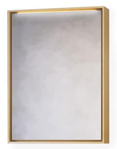 Зеркало-шкаф RAVAL Frame 60 Дуб сонома с подсветкой, розеткой