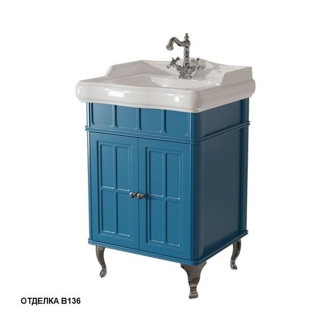 Тумба c раковиной Caprigo Borgo 60 33410, цвет B-136 blue