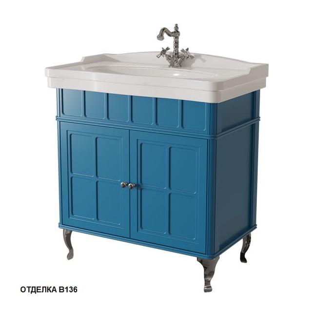 Тумба c раковиной МОДЕРН Caprigo Borgo 85 33421, цвет B-136 blue