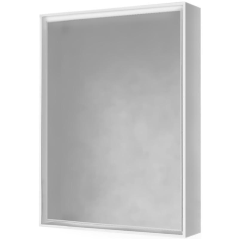 Зеркало-шкаф RAVAL Frame 75 Белый с подсветкой, розеткой