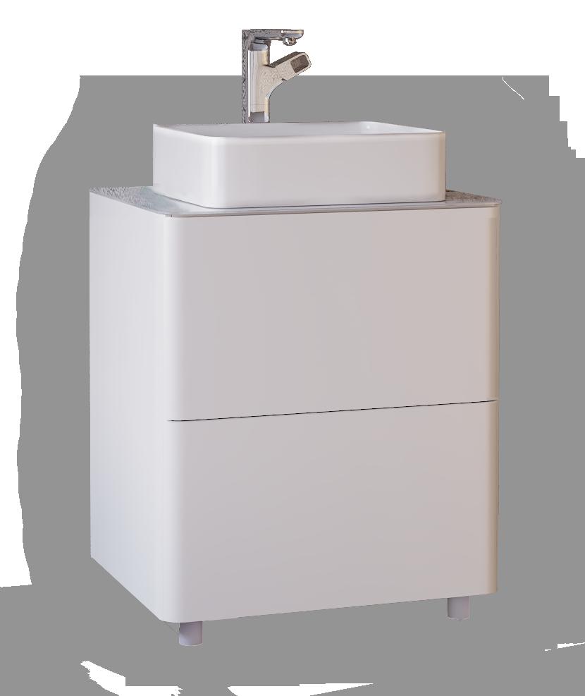 Тумба под раковину RAVAL Pure 65 напольная белая (Pur.01.65.N.W)