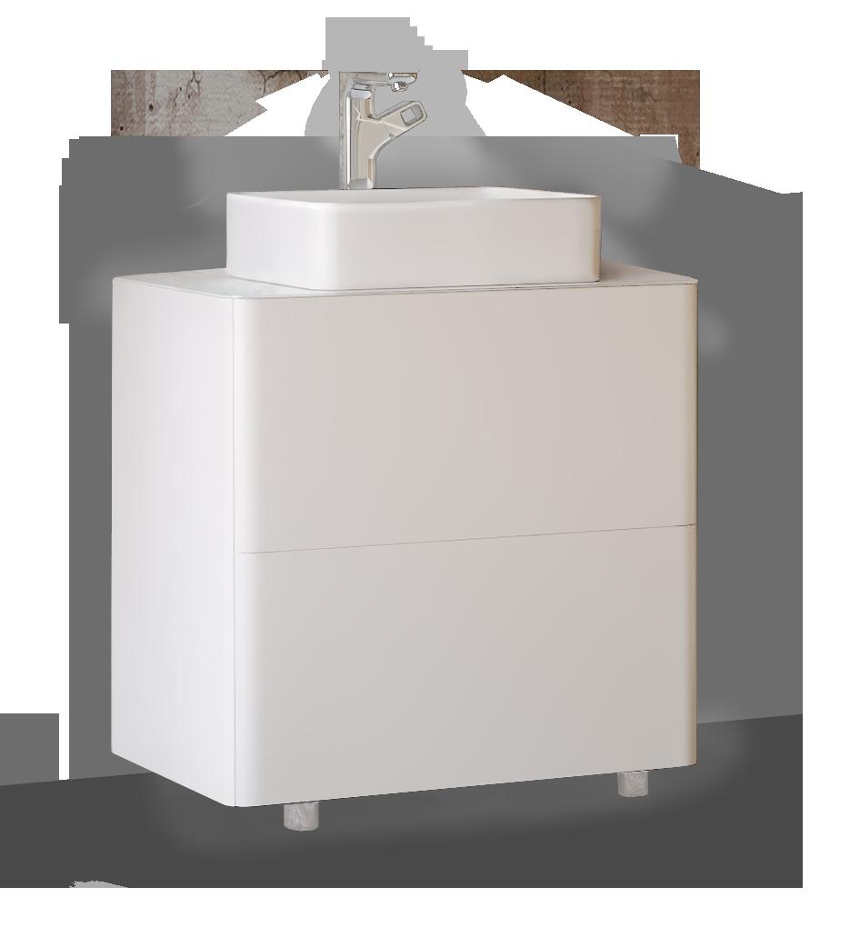 Тумба под раковину RAVAL Pure 75 напольная белая