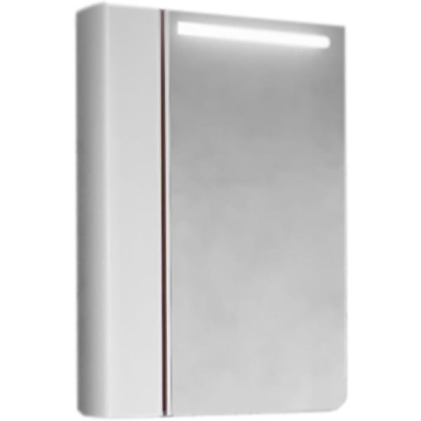 Зеркало-шкаф RAVAL Tetra 60 Белый/Темный лен с подсветкой