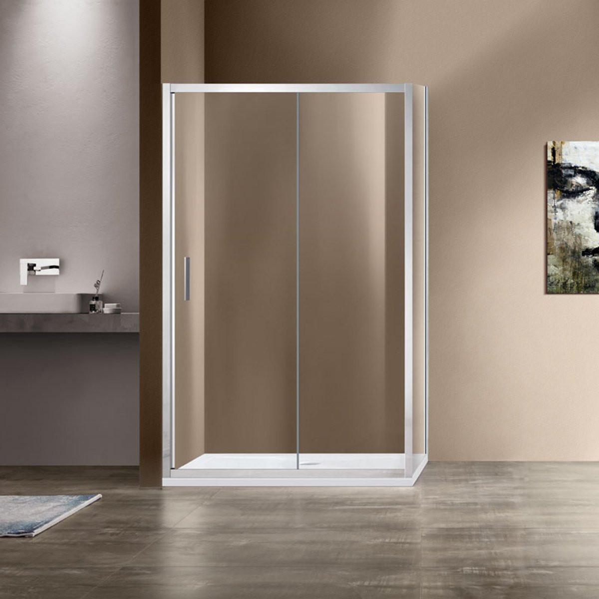 Душевой уголок Garda VSR-1G8011CL, 1100*800, хром, стекло прозачное
