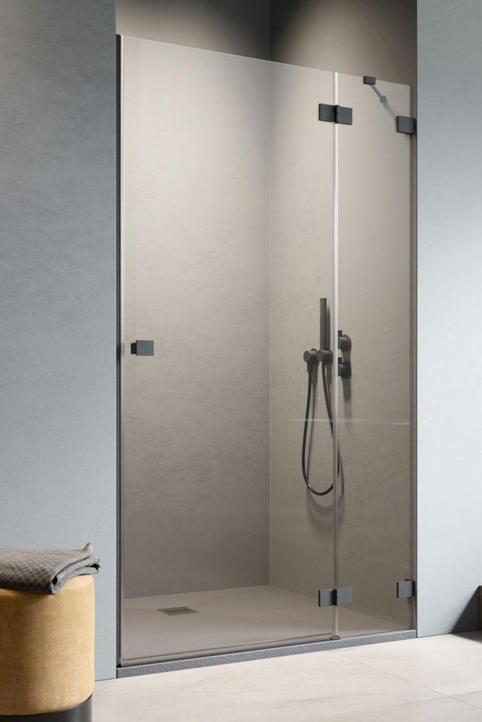 Душевая дверь Essenza Pro Black DWJ 120 Left black прозрачное 6 mm 10099120-54-01L 10099120-54-01L