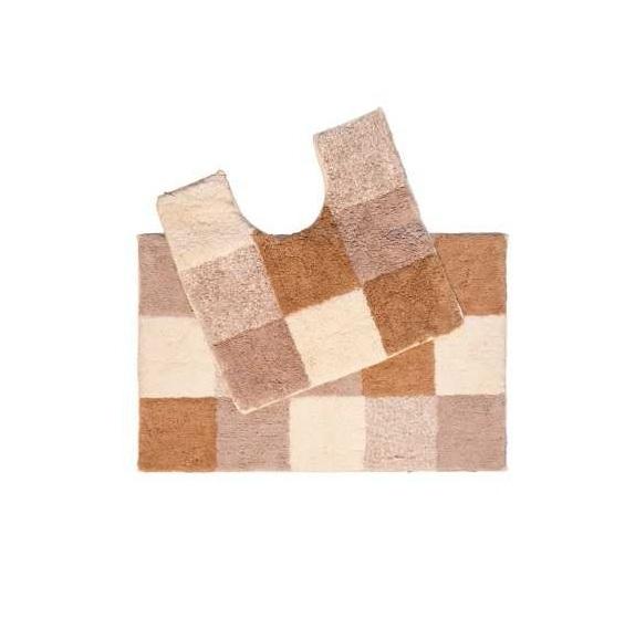 """Набор ковриков для ванной комнаты Iddis """"Hopscotch"""" (микрофибра, 2 шт.) 50х80 и 50х50"""