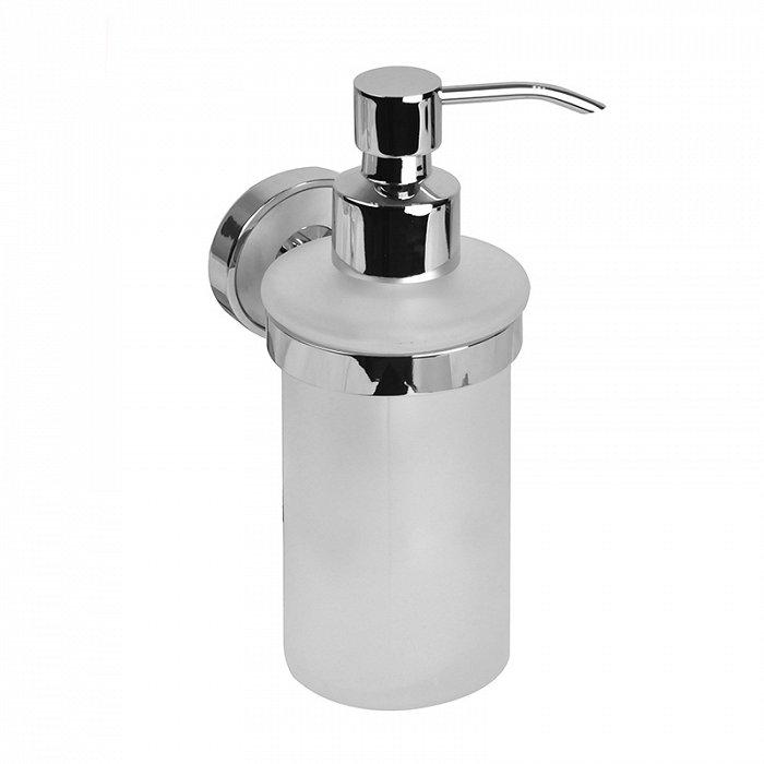 Дозатор для жидкого мыла IDDIS Calipso матовое стекло латунь