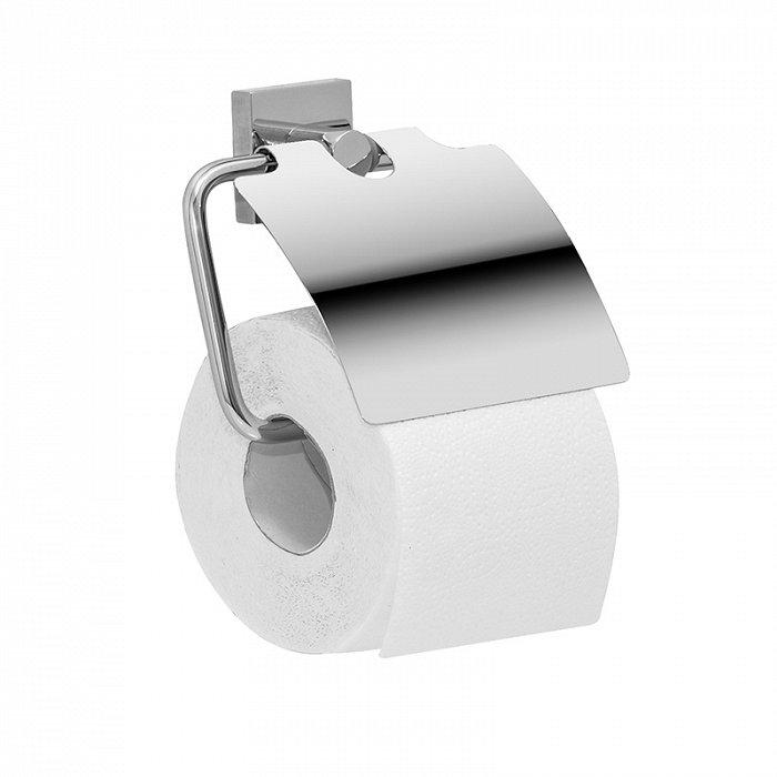 Держатель для туалетной бумаги с крышкой IDDIS Edifice латунь