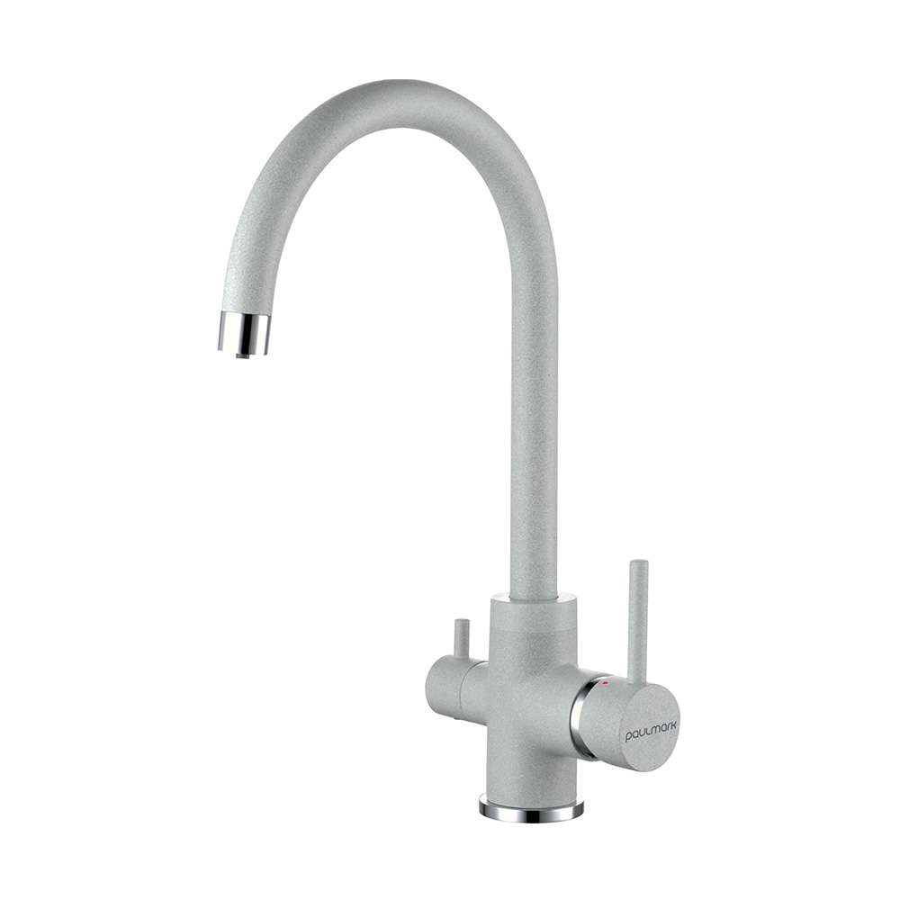 Смеситель для кухни ESSEN, серый, 213211-310, Paulmark