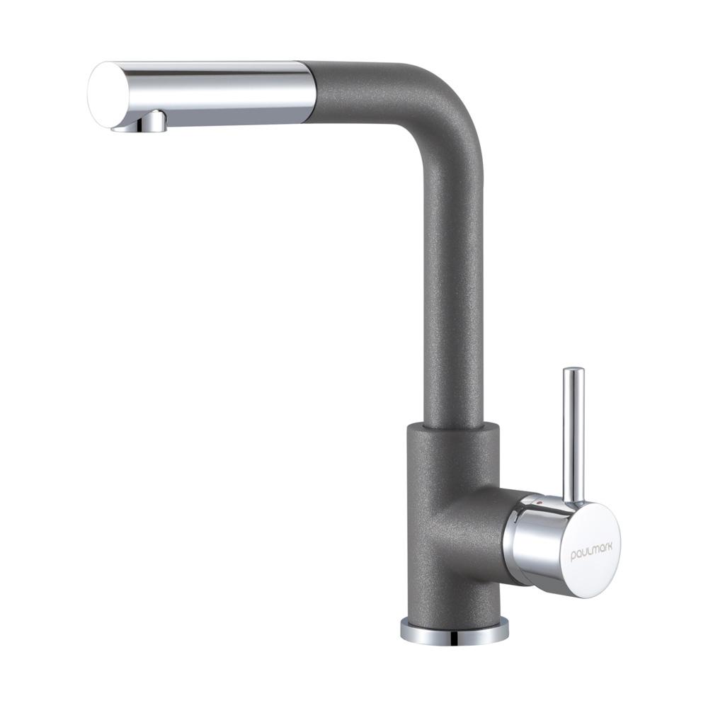 Смеситель для кухни Kassel, серый металлик, Ka214311-402, Paulmark