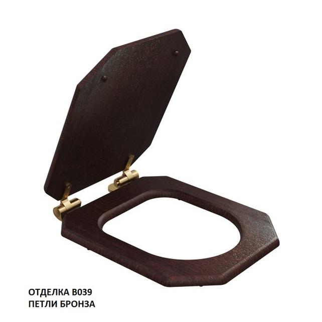 модель Сиденье для унитаза TEMPO47, морилка/бронза
