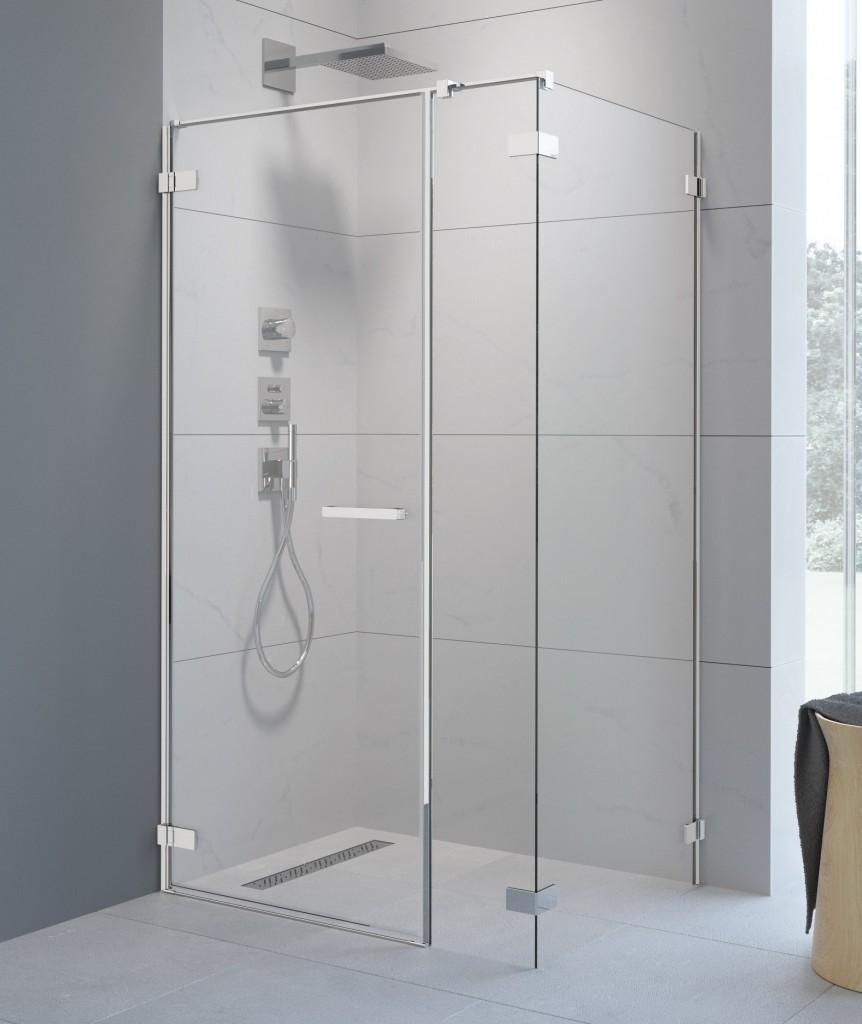 Дверь душевого уголка Radaway Arta KDS I 140 левая , фурнитура хром ,  стекло прозрачное