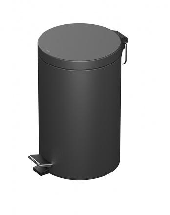 Ведро для мусора 5л черное матовое (188208)