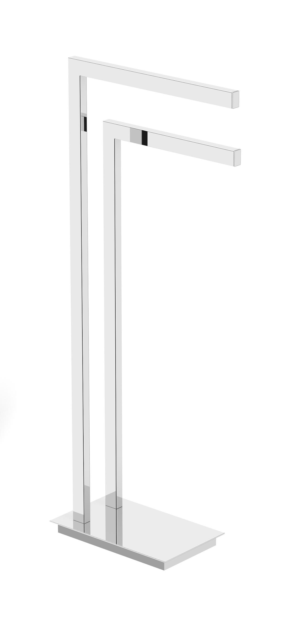 Напольная стойка Langberger 70381 хром. с 2-ным полотенцедержателем