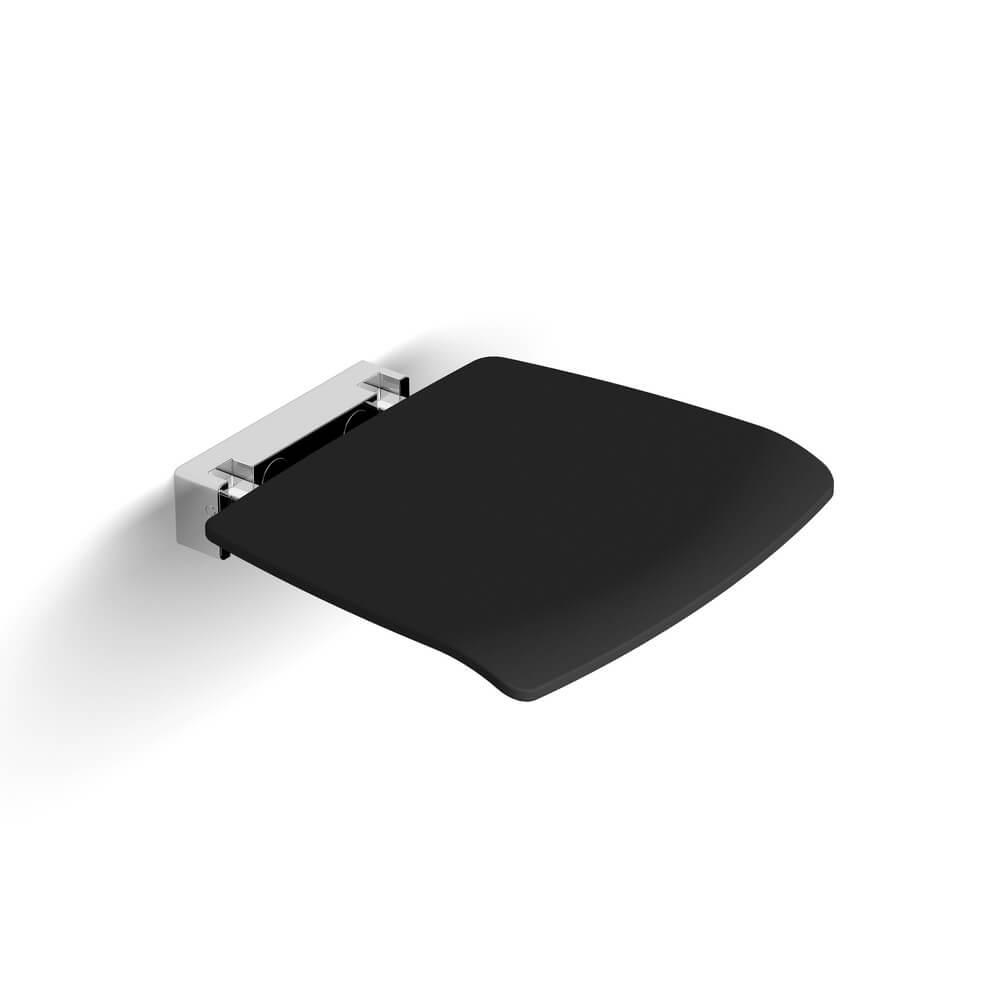 Складное сиденье для душа Black&White SN-0393, темно-серое