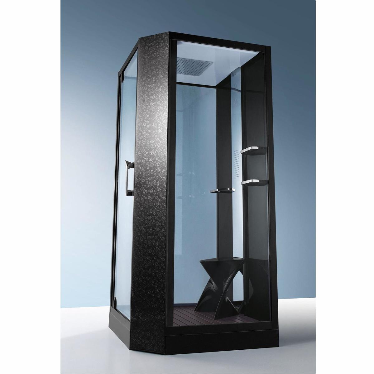 Душевая кабина Orans OLS-SR89101S, black 1000x1000x2200 мм.