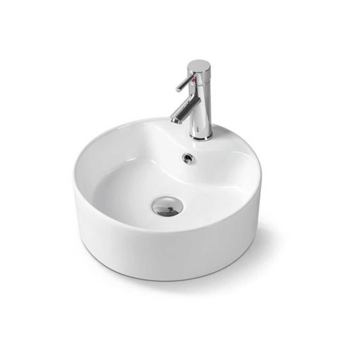 Раковина керамическая Vincea VBS-132, 400*400*140, накладная, цвет белый