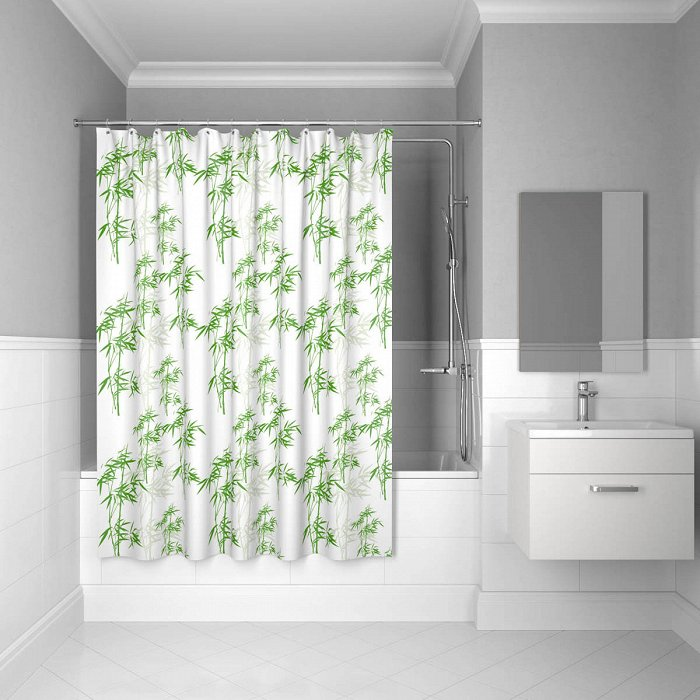 Штора для ванной комнаты IDDIS Leaf 200*200 см bamboo leaf