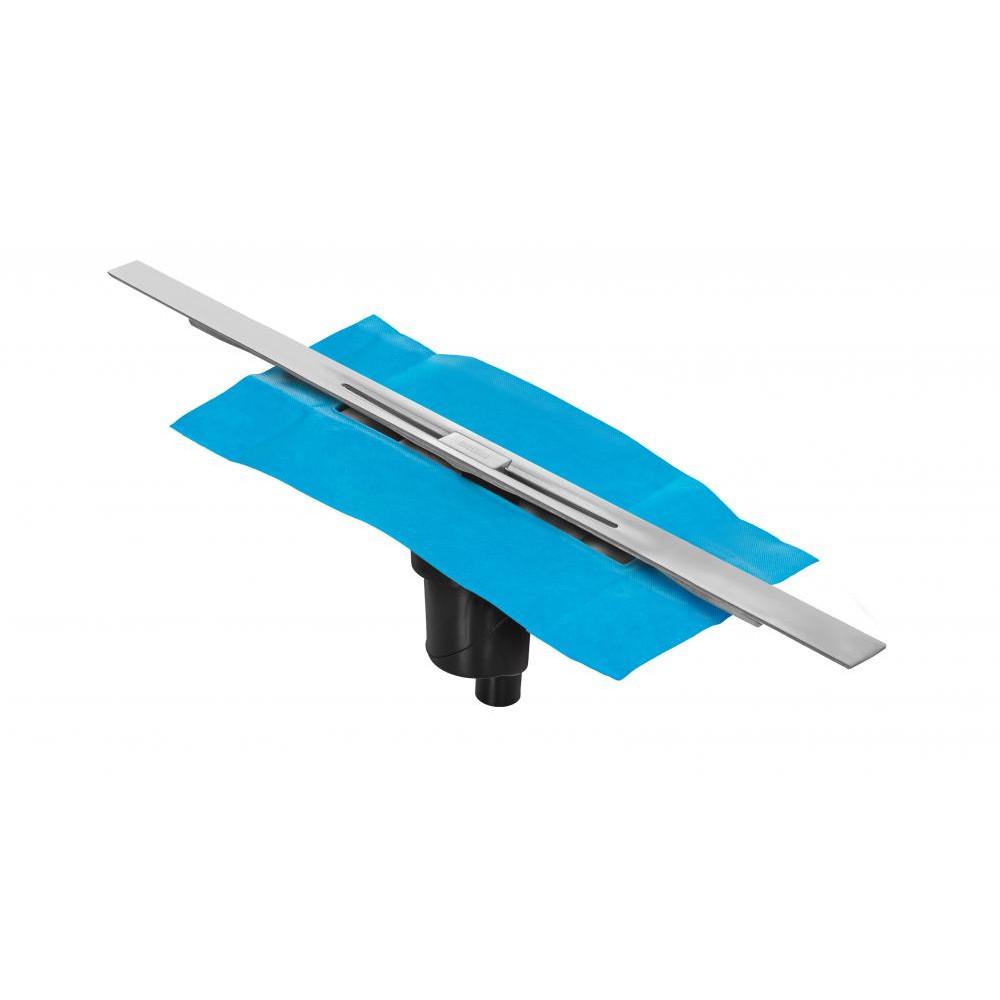 Желоб BERGES водосток SIMPEL 1000, матовый хром, S-сифон D50/105 H50 вертикальный