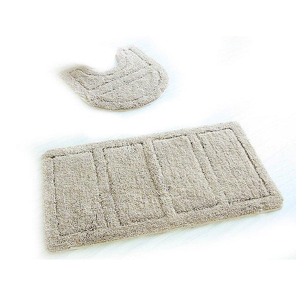242M590i13, Набор ковриков для ванной комнаты, 60х90 + 50х50 см, микрофибра, Beige Landscape, ID