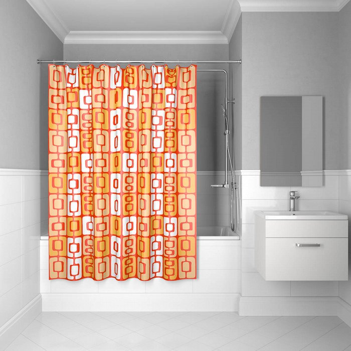 Штора для ванной комнаты IDDIS Orange Toffee 200*240 см orange toffee (280P24RI11)